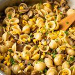 Mushroom Corn Pasta