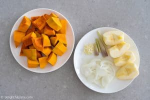 Ingredients for Lemongrass Pumpkin Soup