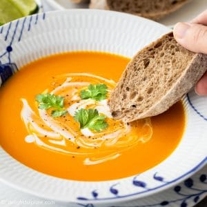 Lemongrass Pumpkin Soup with Coconut Milk