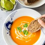 Lemongrass Pumpkin Soup with Coconut Milk (Pressure Cooker & Stovetop)