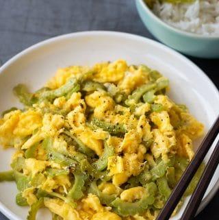 Vietnamese Bitter Melon Egg Stir-fry (Muop Dang Xao Trung)