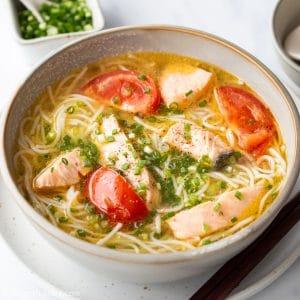 30-minute Vietnamese-style Salmon Noodle Soup