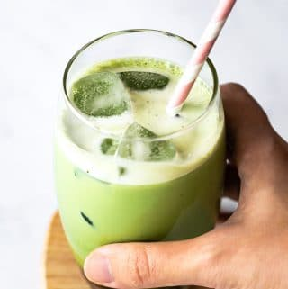 Blender Iced Matcha Latte (Green Tea Latte)