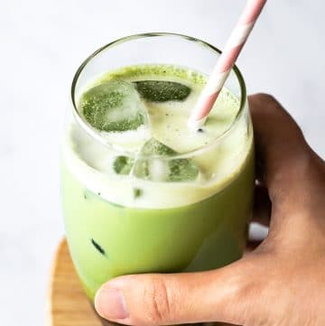 Blender Iced Matcha Latte (Green Tea Latte)