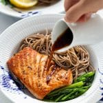 Pan-Seared Salmon Soba Noodle Salad