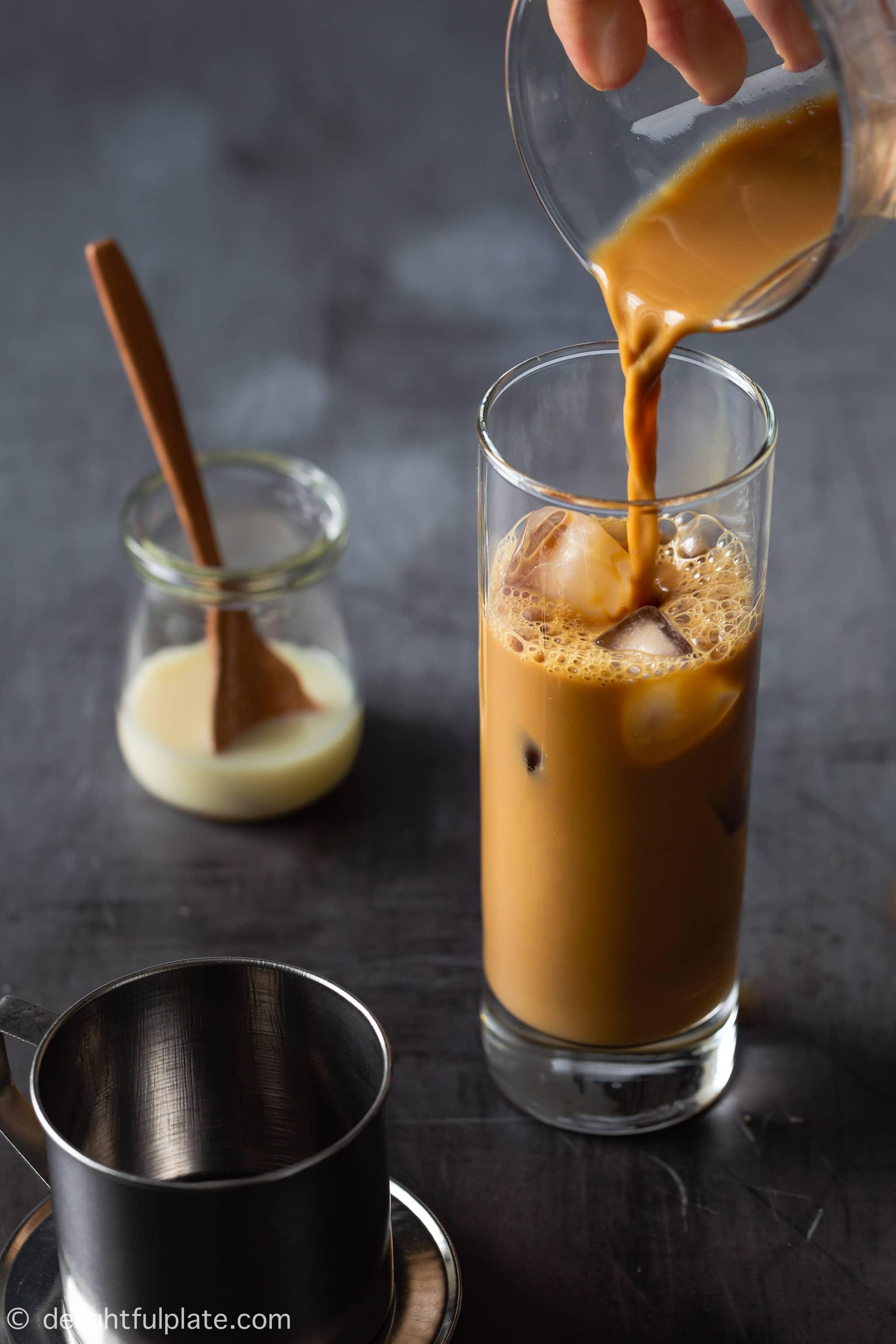 Vietnamese Iced Coffee Cafe Sua Da Delightful Plate
