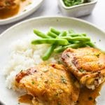 Pan Roasted Chicken Thighs with Crispy Skin