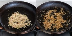 Toasting aromatics