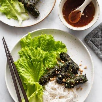 Vietnamese Grilled Beef in Lolot Leaves (Bo Cuon La Lot)