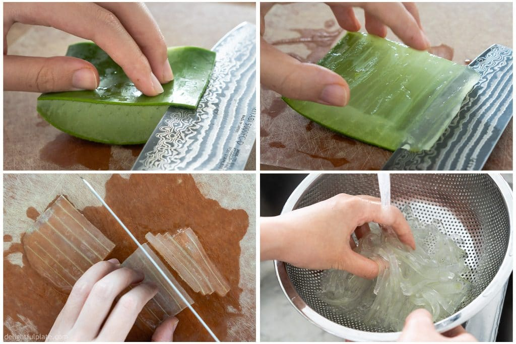 How to Prepare Aloe Vera Gel for eating.