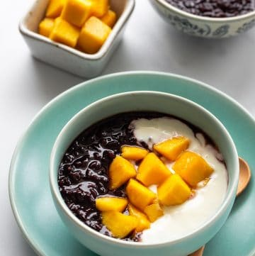 Pressure Cooker Black Sticky Rice Pudding
