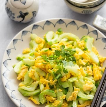 Stir-Fried Cucumber with Egg