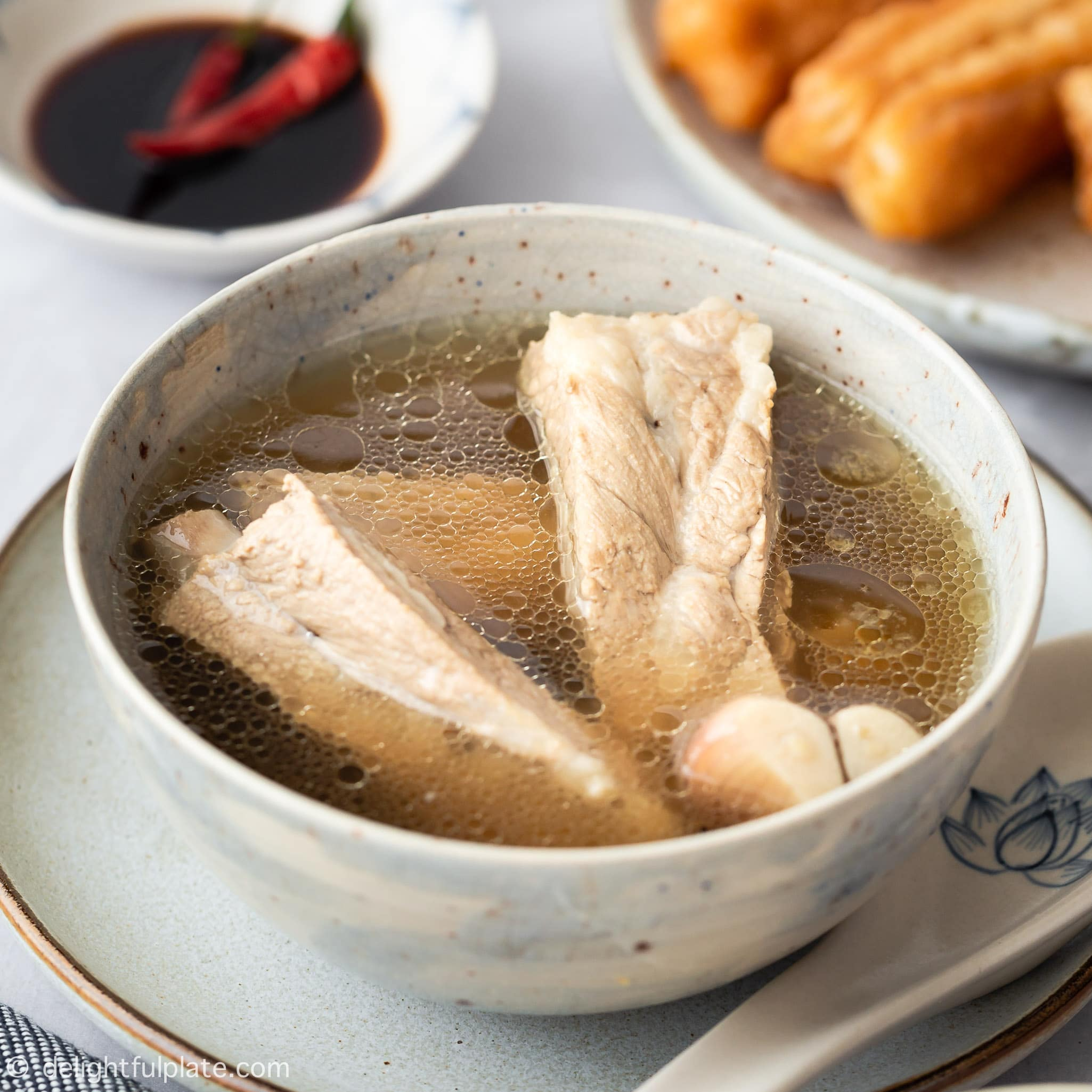White Pepper Pork Rib Soup Singapore Bak Kut Teh Delightful Plate