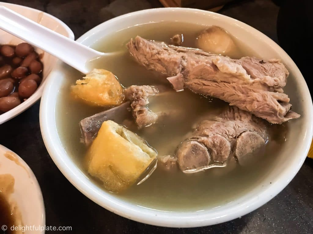a bowl of bak kut teh at Song Fa, Singapore