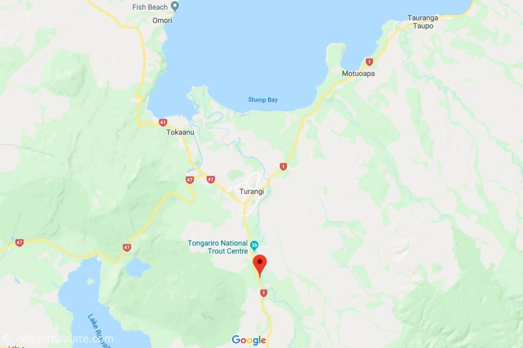 Location of Tongariro River on Google Maps
