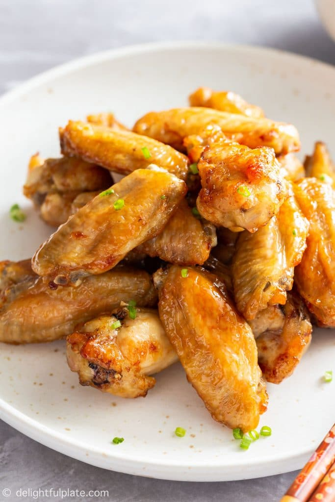 Air Fryer Fish Sauce Chicken Wings Delightful Plate