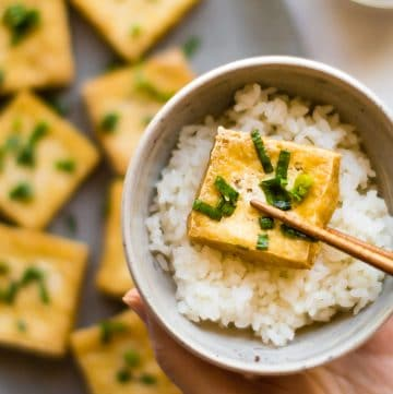 Vietnamese Fried Tofu with Scallions