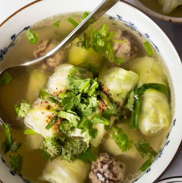 Pork Stuffed Cabbage Roll Soup