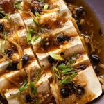 Steamed Tofu in Black Bean Sauce