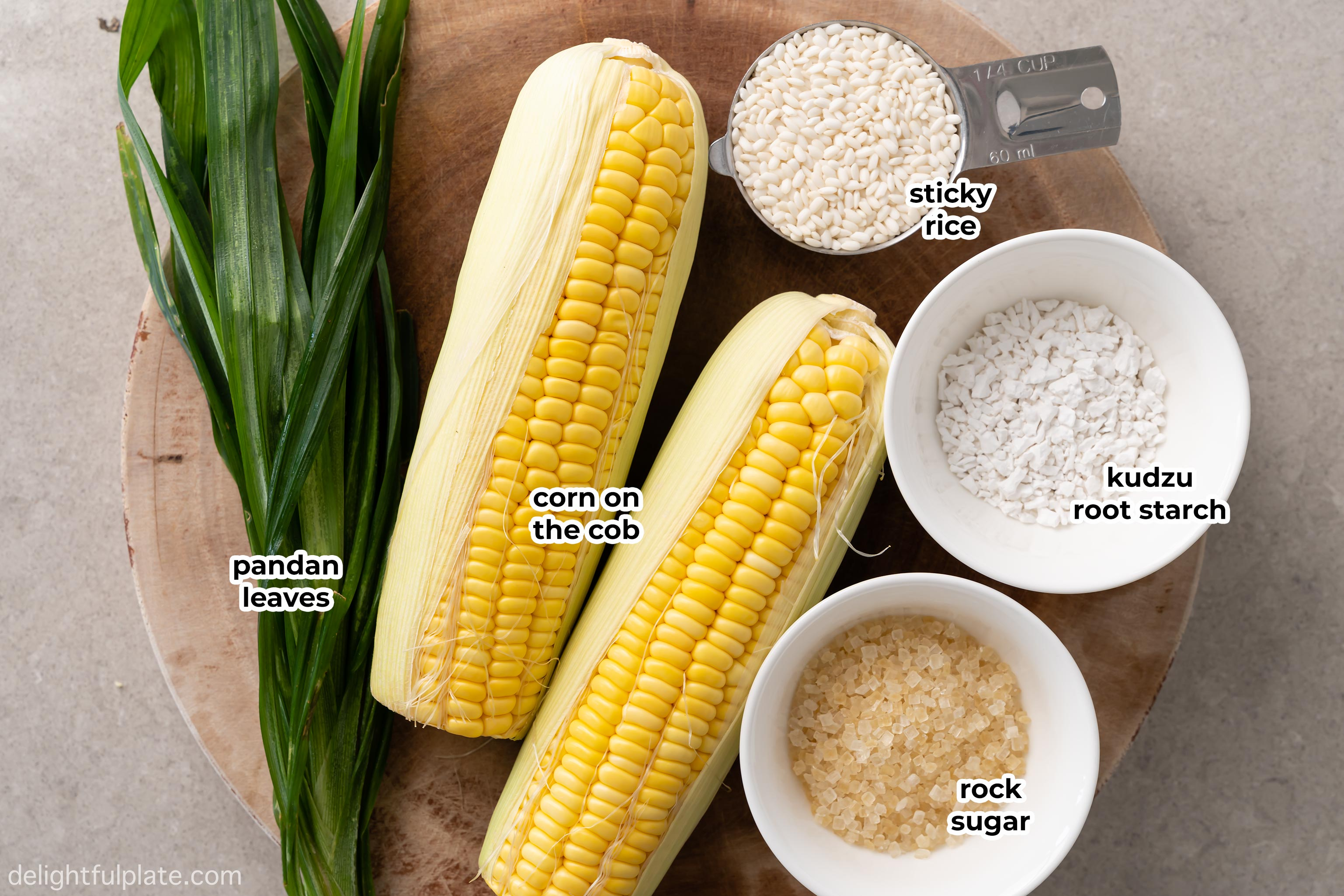 ingredients to make sweet corn pudding