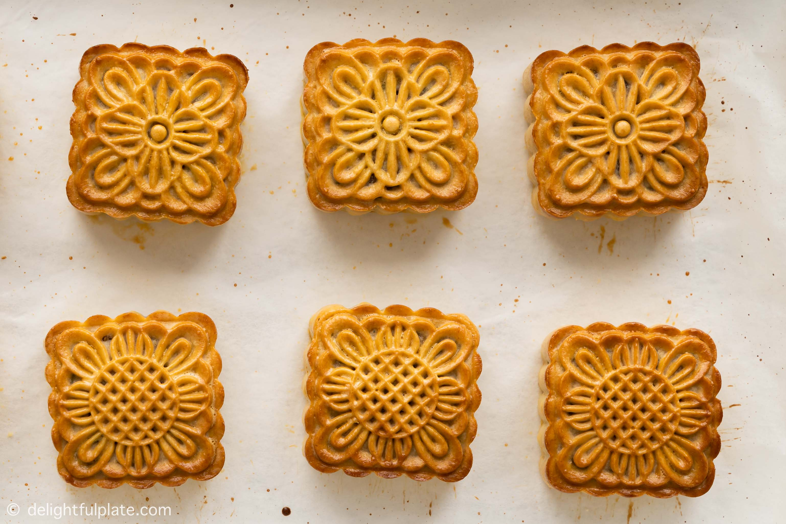 freshly baked mooncakes