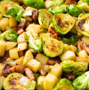 Sautéed Brussels Sprouts with Bacon & Apple