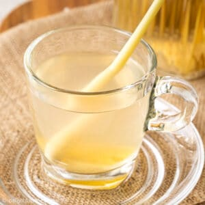 a glass of lemongrass ginger tea