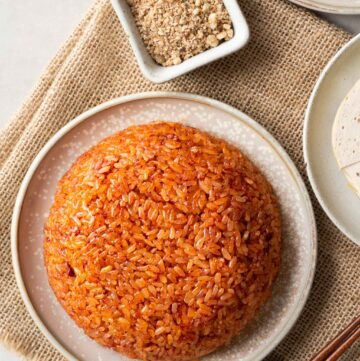 Xôi Gấc (Vietnamese Red Sticky Rice)