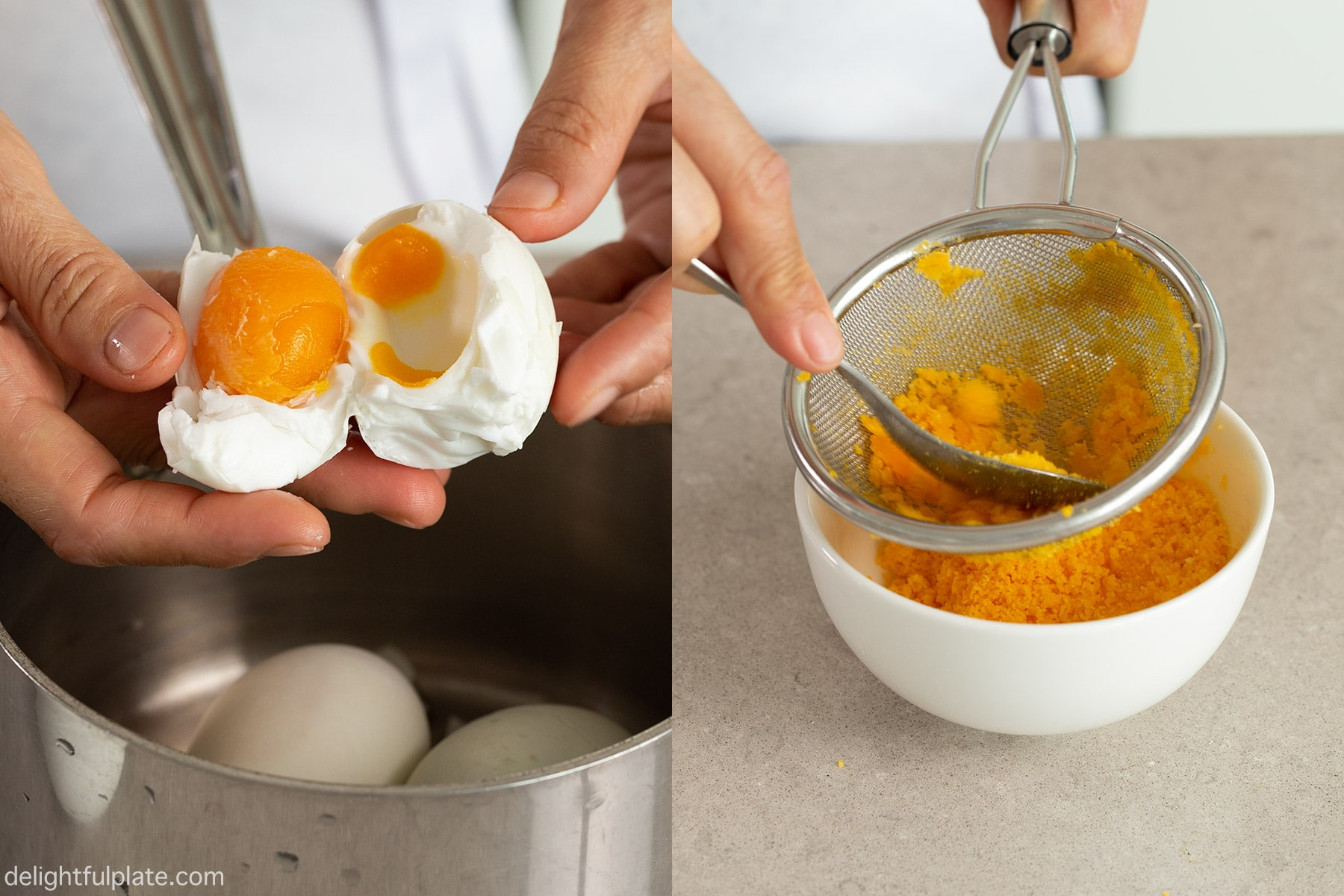 Step 2: boil the salted duck eggs and mash the yolks