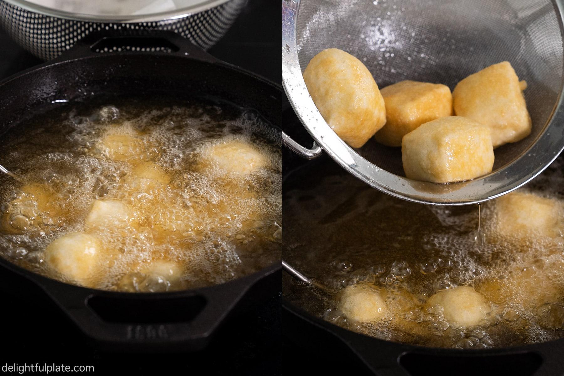 Step 4: refry the tofu