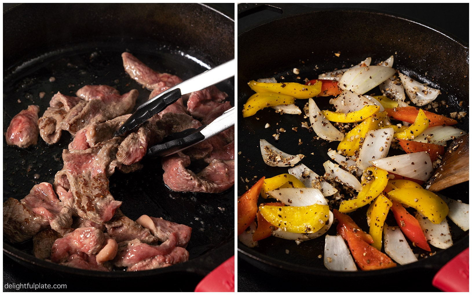 step by step photos to cook black pepper beef
