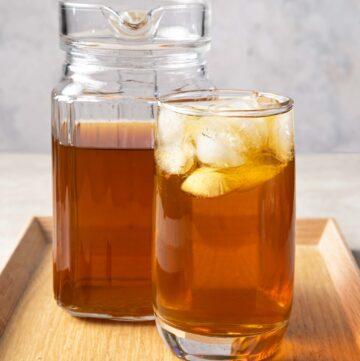 a glass of winter melon tea